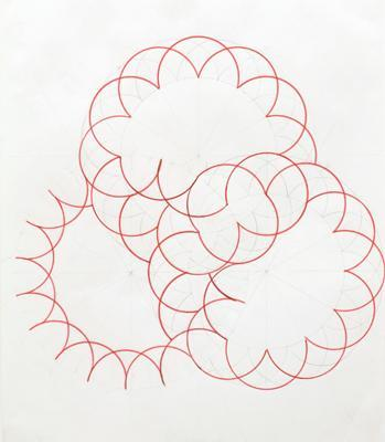 "Jean-Luc Moulène, La nuée (The Cloud), 2006, pencil and felt pen on paper, 22 1⁄16 x 17 5⁄16""."