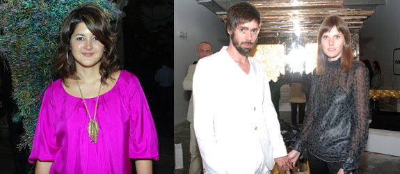 Left: Artist Cristina Lei Rodriguez. Right: Studio Job's Job Smeets and Nynke Tynagel.