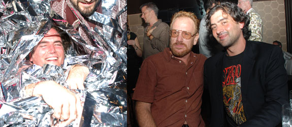 Left: Artist Robert Chambers. Right: Artist Jack Pierson with Angstrom Gallery's David Quadrini.