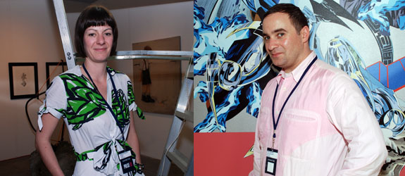 Left: Rokeby gallery's Beth Greenacre. Right: Dealer Pavel Zoubok.