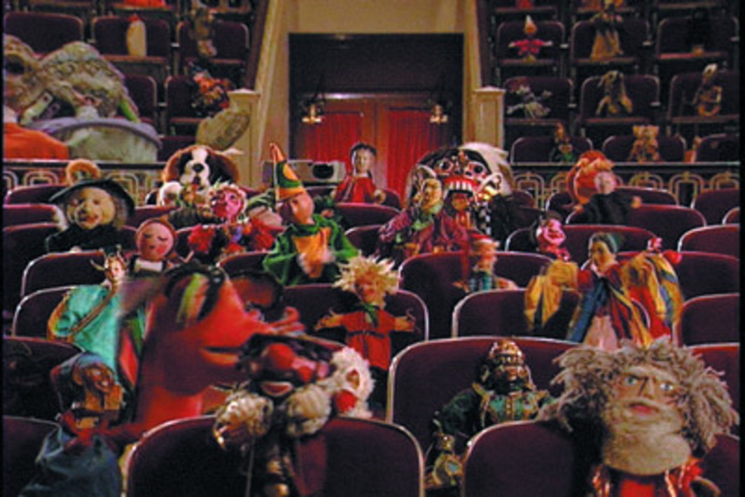 Christian Jankowski, Puppet Conference, 2003, still from a color video, 26 minutes.