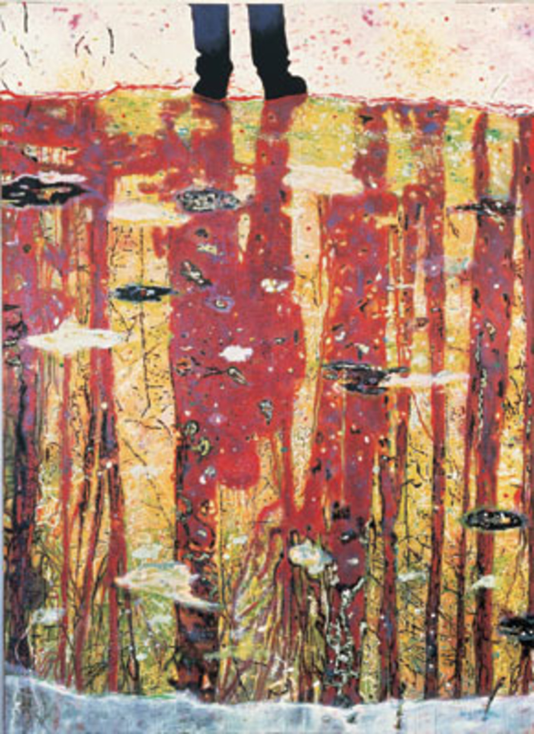 "Peter Doig, Reflection (What Does Your Soul Look Like?), 1996, oil on canvas, 116 x 78 3/4""."