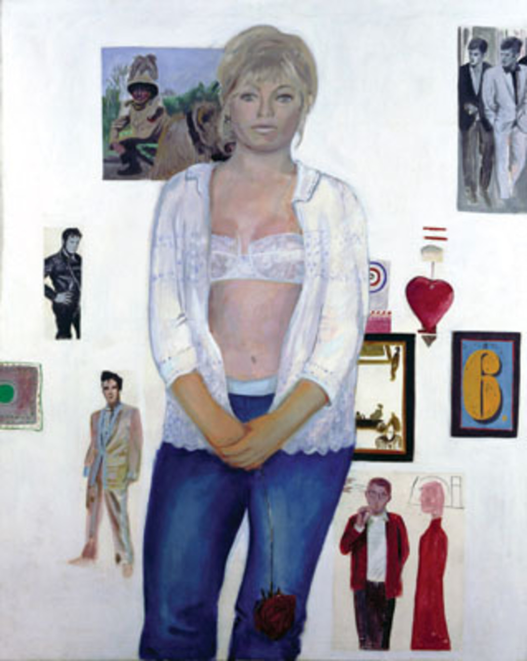 "Pauline Boty, The Only Blonde in the World, 1963, oil on canvas, 88 5/16 x 60 1/4"". © Estate of Pauline Boty, 2007."
