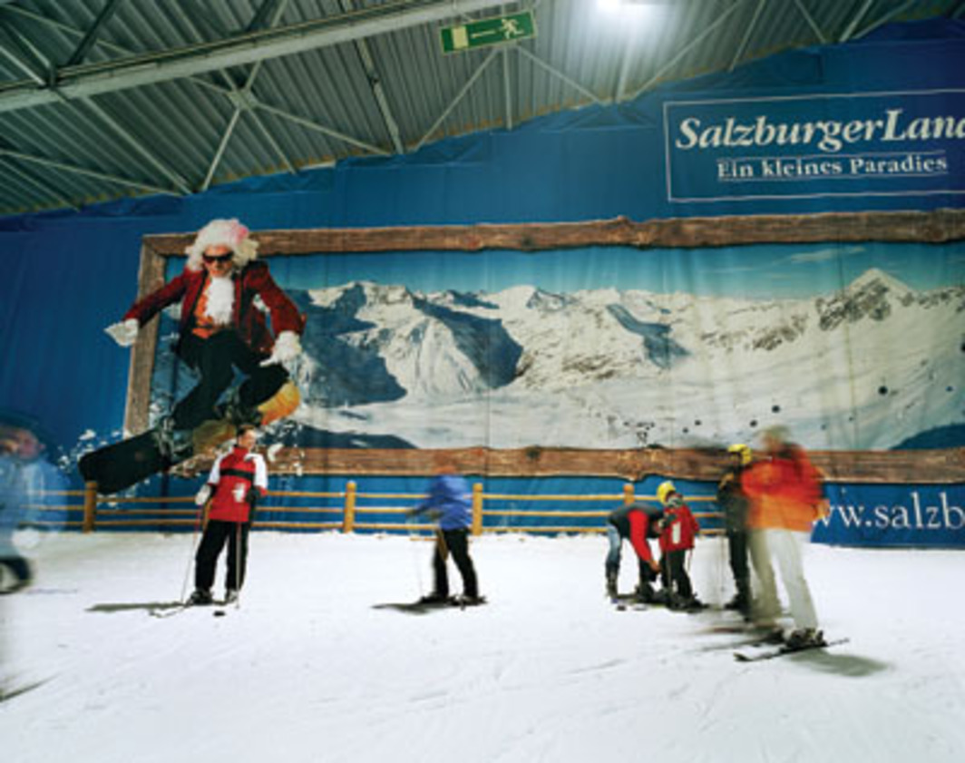 "Reiner Riedler, Schipiste (Ski Slope), 2005, color photograph, 25 x 31 1/2"", from the series ""Fake Holidays,"" 2004–2007."