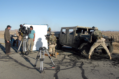The Casting in production, Mojave Desert, California, May 2007. Photo: Nicholas Trikonis