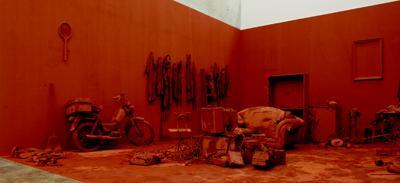 *Chen Zhen, _Purification Room_, 2000,* mixed media. Installation view, Kunsthalle Wien, 2007. Photo: Stephan Wyckoff.