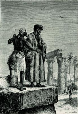 *Print by Léon Benett from 1878 woodcut depicting Ibn Battuta in Morocco.* Photo: The Granger Collection.