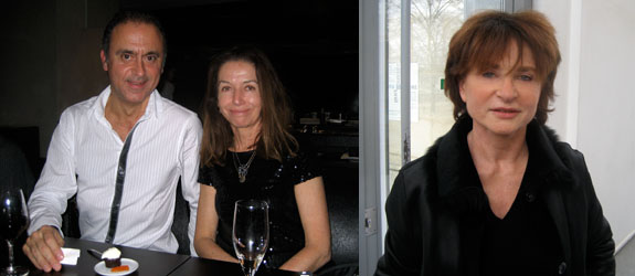 Left: Ellipse Foundation curator Alexandre Melo and Marian Goodman senior director Agnès Fierobe. Right: LVMH Foundation artistic director Suzanne Pagé.