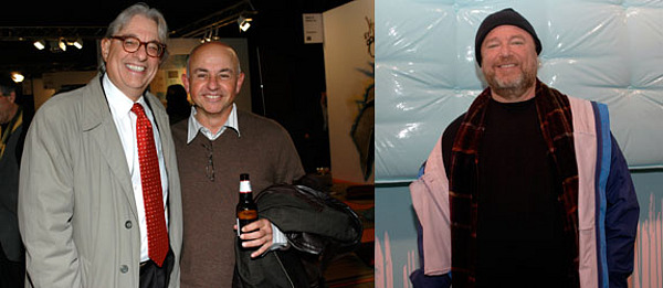 Left: Collectors Peter Benedek And Sam Schwartz. Right: Collector Dean  Valentine. (Photos: David Velasco)