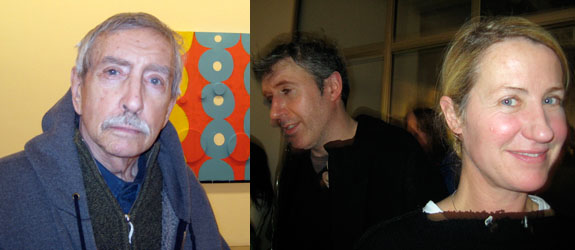 Left: Writer Edward Albee. Right: Artists Adam McEwen and Ann Craven.