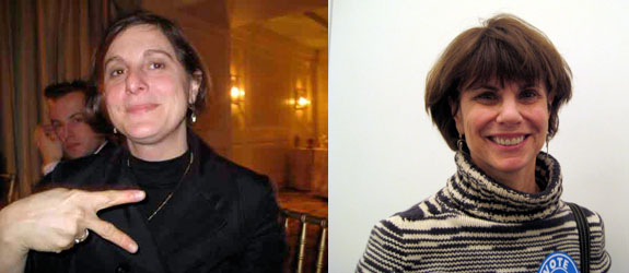 Left: New Museum curator Laura Hoptman. Right: Broadway producer Margo Lion.