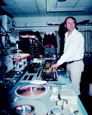 Stockhausen at the Studio for Electronic Music, WDR, Cologne, 1969