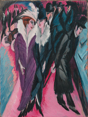 "E.L. Kirchner, Street, Berlin, 1913, oil on canvas, 47 1/2 x 35 7/8""."