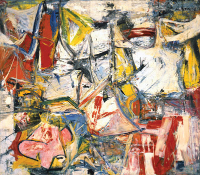 "Willem de Kooning, Gotham News, 1955, oil on canvas, 69 x 79""."