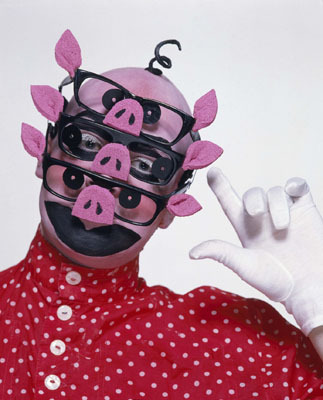 Leigh Bowery, Piggy Leigh, 1986, color photograph. Photo: Johnny Rozsa.