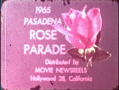 Amy O'Neill, still from 1965 Rose Parade, Super 8 film transferred to DVD.