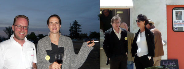 Left: Craig Rember with the Judd Foundation's Valerie Breuvart. Right: Art historian Allan Antliff with Marianne Stockebrand.