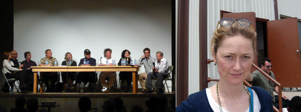 Left: A view of the panel. Right: Rainer Judd.