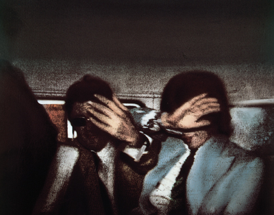 "Richard Hamilton, Swingeing London 67 (c), 1968–69, oil on canvas and screenprint, 26 1⁄2 x 33 1⁄2""."