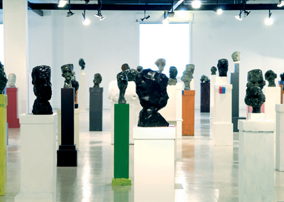 Daniel Silver, Heads, 2006. Installation view, Northern Gallery for Contemporary Art, Sunderland, UK, 2007.