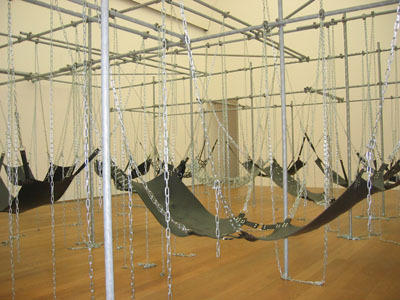 Monica Bonvicini, Never Again, 2005. Installation view.