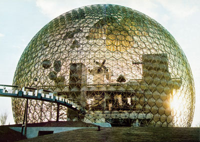Buckminster Fuller, US pavilion for the 1967 International and Universal Exposition, Montreal.
