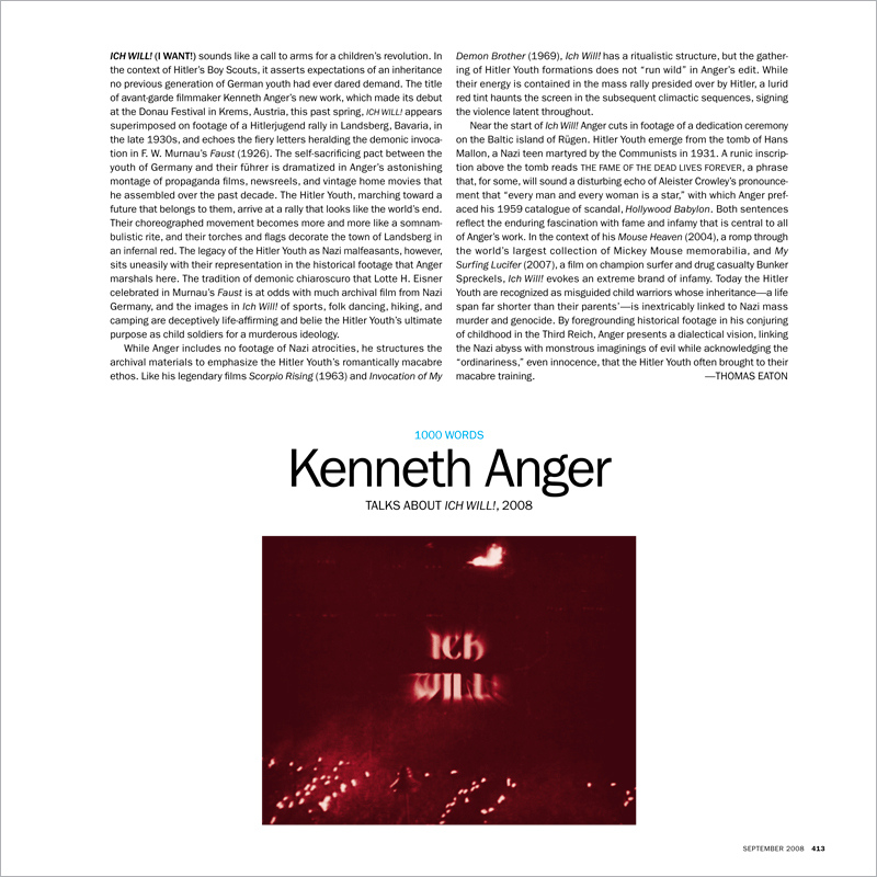 1000 WORDS: KENNETH ANGER