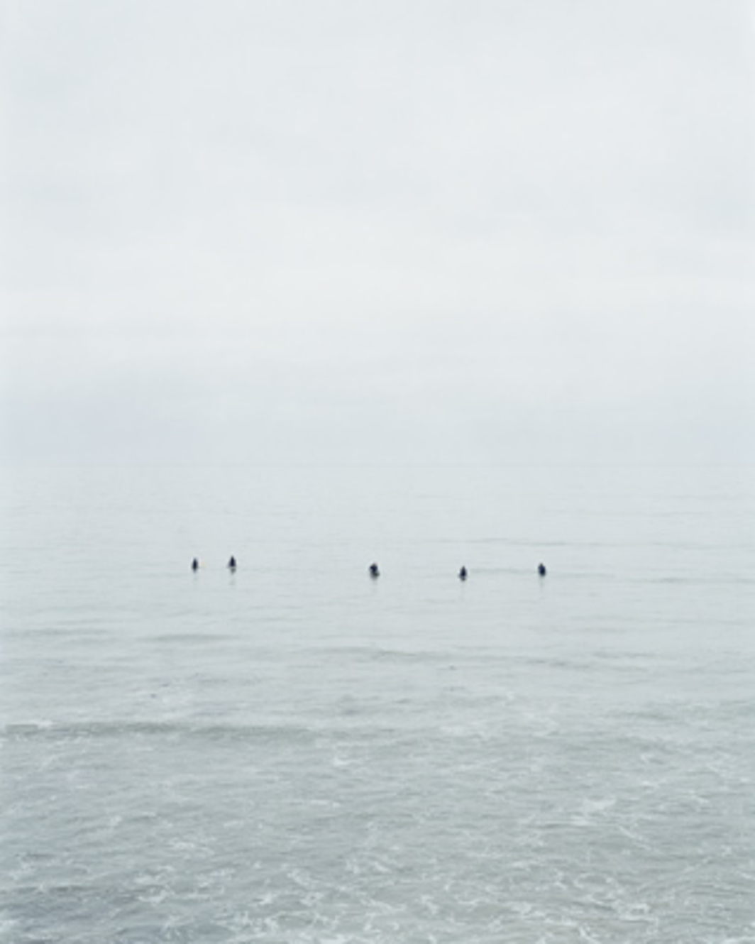 "Catherine Opie, Untitled #10 (Surfers), 2003, color photograph, 50 x 40""."