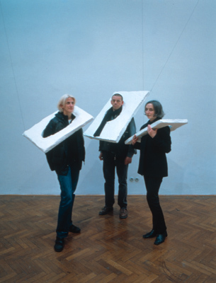 Franz West, Tournure, 2001, Styrofoam, plaster, gauze, and acrylic, dimensions variable.