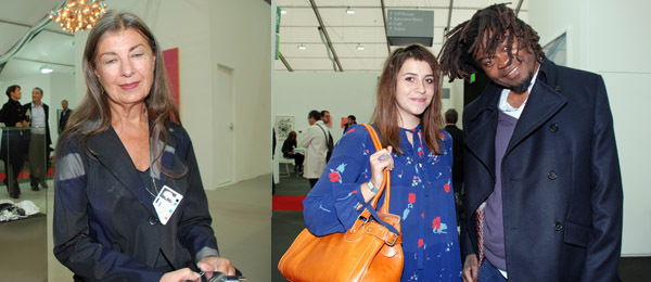 Left: Dealer Victoria Miro. Right: Artist Yinka Shonibare (right).