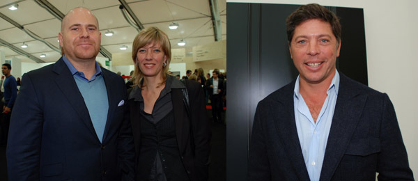 Left: Art Basel directors Marc Spiegler and Annette Schönholzer. Right: Collector Adam Lindemann.