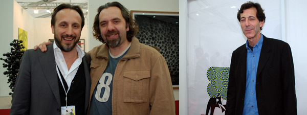 Left: Artist Keith Tyson (right). Right: Hayward Gallery director Ralph Rugoff.
