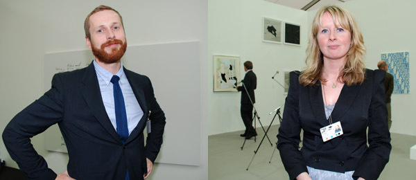 Left: Standard (Oslo)'s Eivind Furnesvik. Right: Dealer Sorcha Dallas.