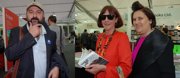 Left: Artist Pierre Bismuth. Right: Editor Suzy Menkes (right).