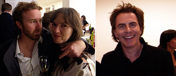Left: Artists Jedediah Caesar and Kate Costello. Right: John Taylor of Duran Duran.
