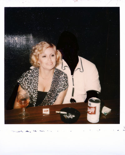 "Zoe Crosher, Kools, Schlitz and Matches from the Polaroided Collection, 2008, color photograph and Sharpie, 5 x 3 1/2""."