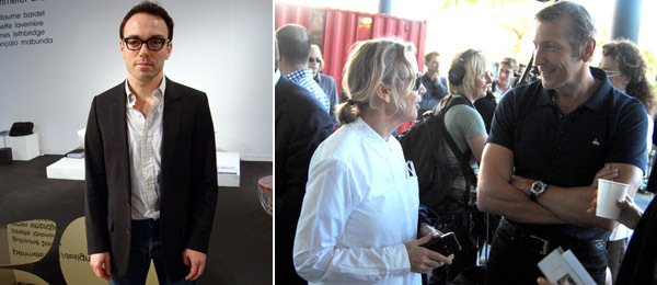 Left: Perimeter's Nicolas Chwat. (Photo: Nicolas Trembley) Right: Designer Jil Sander with Puma CEO Jochen Zeitz.