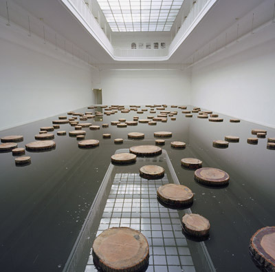 Matti Braun, S.R., 2003, mixed media. Installation view, Kunstverein Freiburg, Germany.