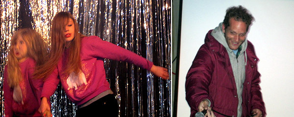 "Left: Julie Potratz dances to Billy Idol's ""Dancing with Myself."" Right: Aaron Bondaroff. (Except where noted, all photos: Miriam Katz)"