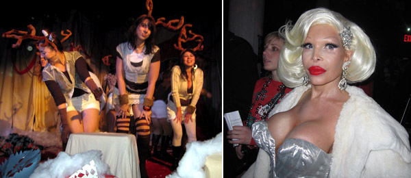 Left: Laurendarling & the Ladies of Fakework. Right: Amanda Lepore.