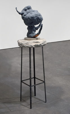 "Arlene Shechet, Good Ghost, 2007, glazed ceramic, steel, cast concrete, 66 x 24 x 22""."