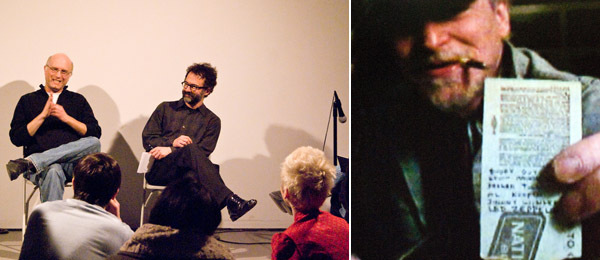 Left: Filmmaker Jeff Krulik and critic Michael Azerrad. Right: A still from Jeff Krulik's Led Zeppelin Played Here. (All photos: Hannah Shields)