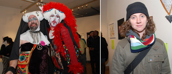 Left: The Sisters of Perpetual Indulgence. Right: Artist Sharon Hayes.