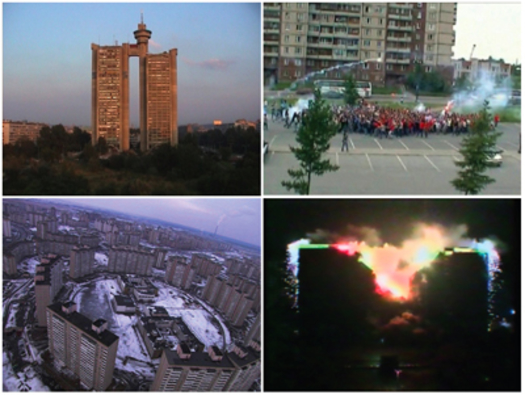 Cyprien Gaillard, Desniansky Raion, 2007, stills from a color video, 30 minutes.