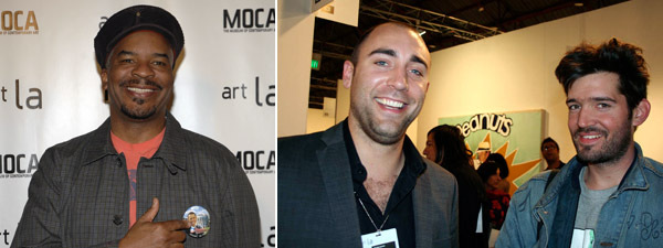Left: David Alan Grier. (Photo: Andreas Branch/Patrick McMullan) Right: Dealer Parker Jones with Skylar Haskard.