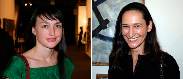 Left: Artist Shana Lutker. Right: ForYourArt's Bettina Korek.