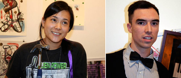Left: Ooga Booga's Wendy Yao. Right: Artist Brendan Fowler.