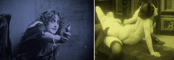 Gustav Deutsch, Film ist. a girl & a gun, 2009, stills from a black-and-white and color film, 93 minutes.