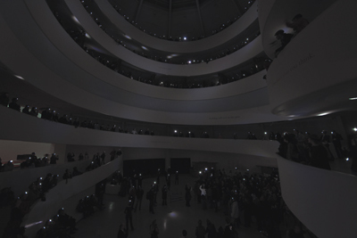 Pierre Huyghe, Opening, 2008. Performance view, Solomon R. Guggenheim Museum, New York, October 24, 2008. Photo: Kristopher McKay.