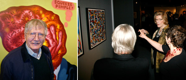 Left: Artist Peter Saul. Right: ADAA honorary chairman Agnes Gund. (Photo: Amber De Vos/Patrick McMullan)